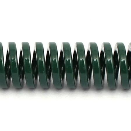 10mm OD 80mm Free Length Heavy Load Compression Mould Die Spring Green 5pcs - image 1 de 3