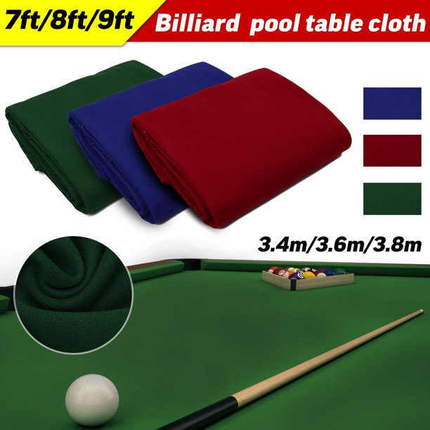 Worsted Billiard Pool Table Cloth Billiard Rail for 7ft 8ft 9ft Snooker Billiard Table 3 Colors Red,Blue,Green