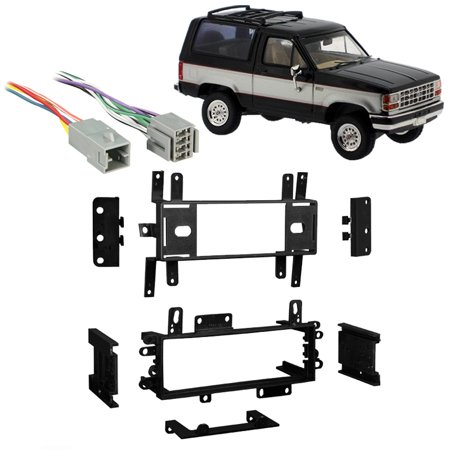 Fits Ford Bronco II 1983-1985 Single DIN Harness Radio Install Dash (Ford Bronco Dash)