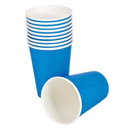 Lot 25 New Blue Birthday Party Paper Beer Beverage Drinking 9oz Cup ()