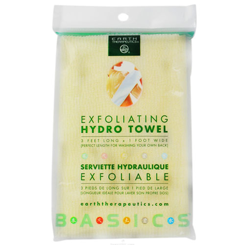 Earth Therapeutics Exfoliating Hydro Towel 3 Feet Long And 1 Foot Wide - 1 Ea, 2 Pack