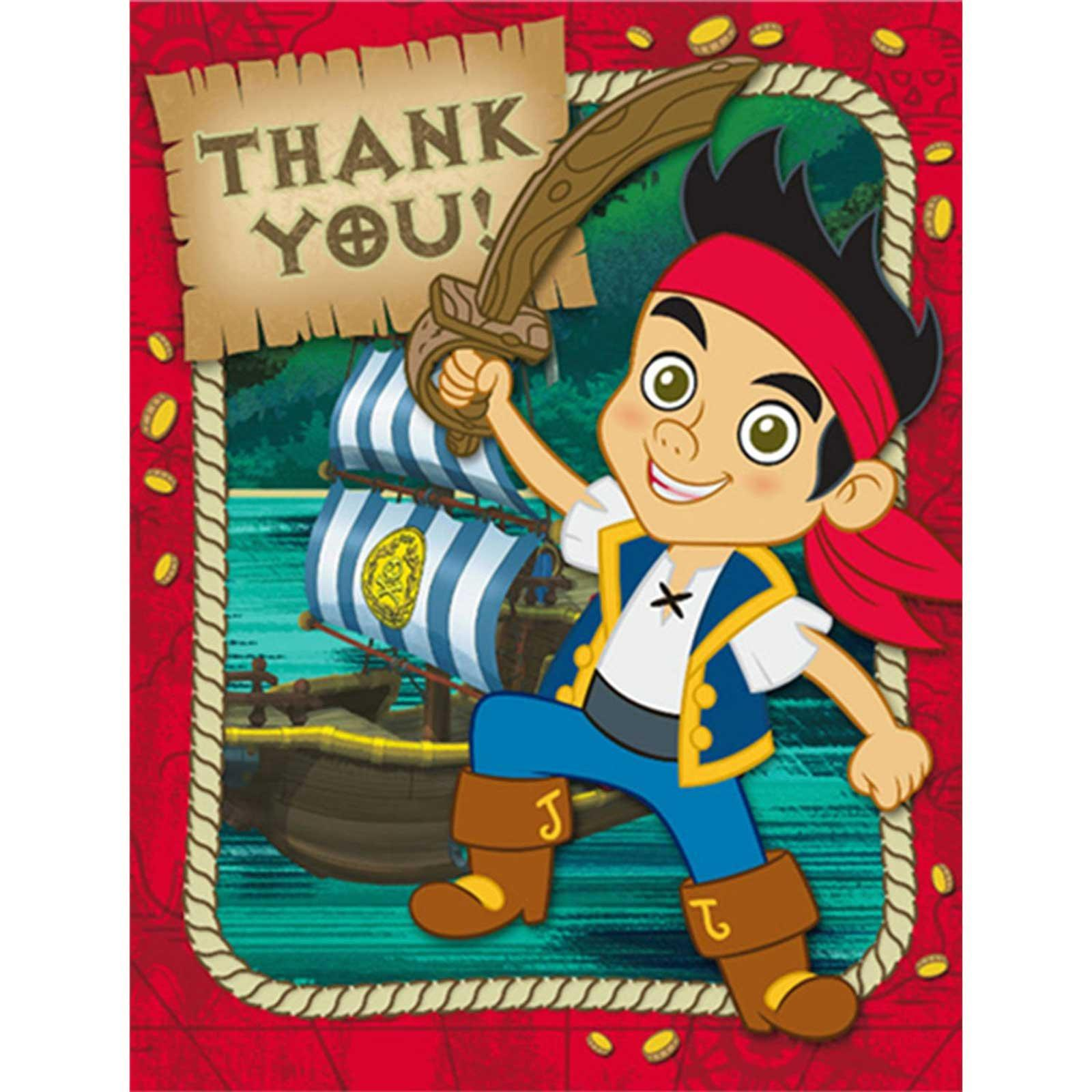 Disney Jake and the Never Land Pirates Thank-You Notes