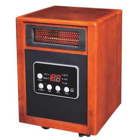 Elec. Wooden Box Heater,1500 W,5200 BtuH 12H976