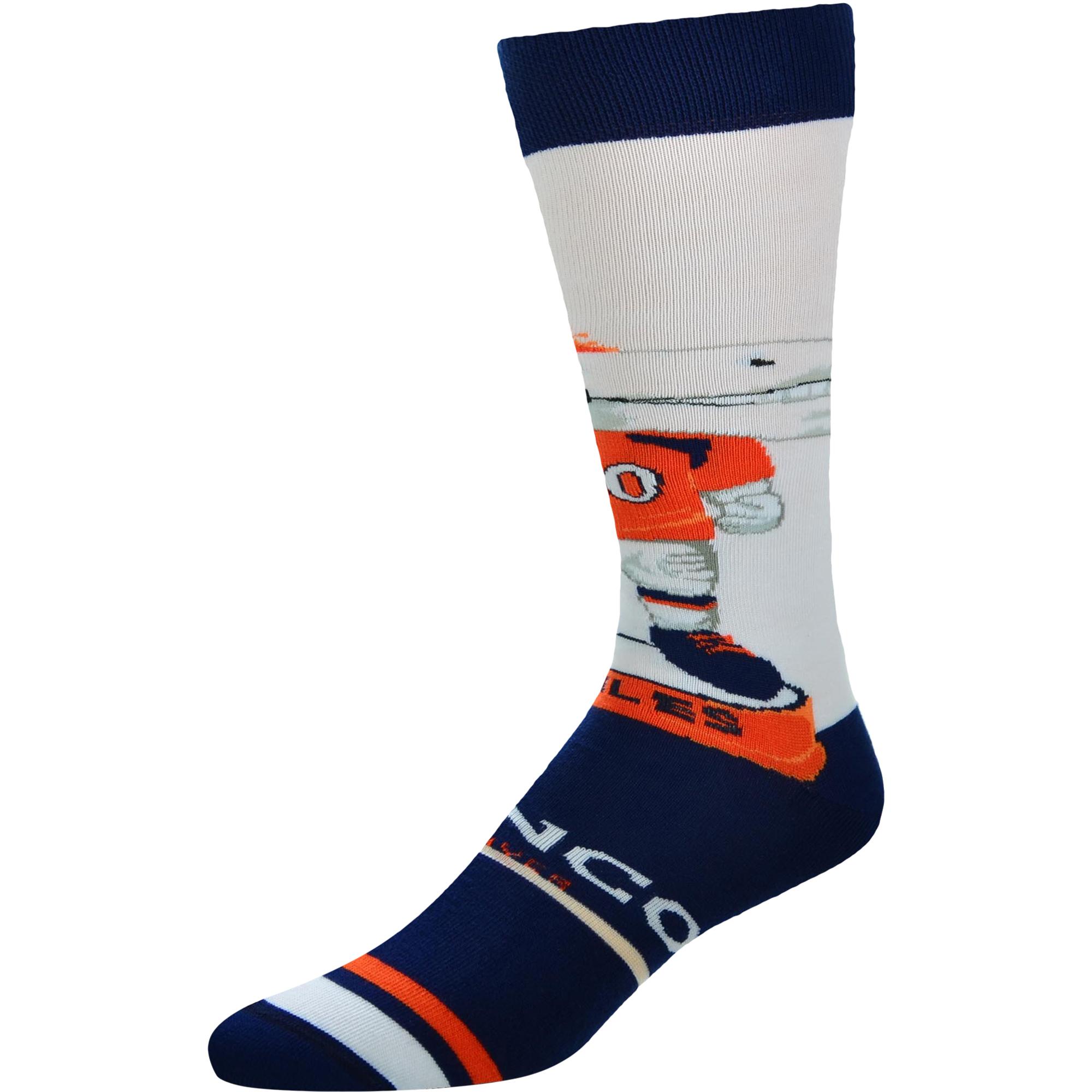 Denver Broncos For Bare Feet Youth Mascot Bobble Head Quarter-Length Socks - No Size