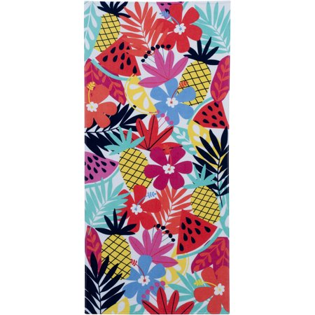 Mainstays Tropical Multi Printed Beach Towel