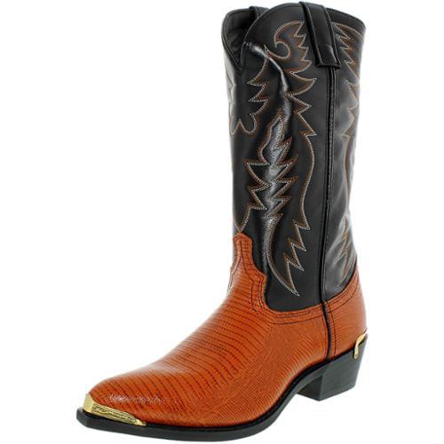 Laredo Men's Atlanta Synthetic Peanut Lizard Print Foot Mid-Calf Synthetic Boot 11D by Laredo