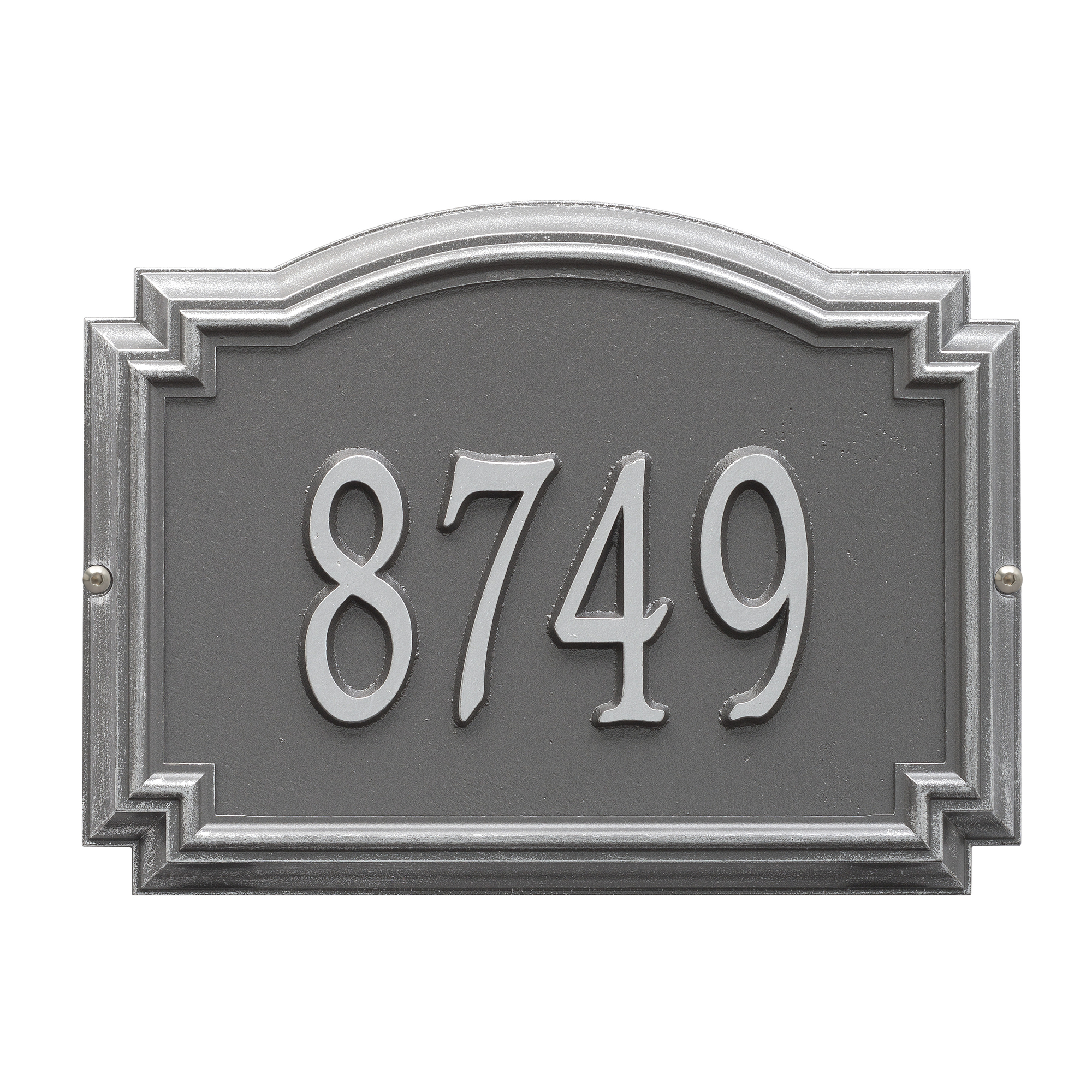 Personalized Whitehall Williamsburg 1-Line Standard Wall Plaque in Pewter/Silver
