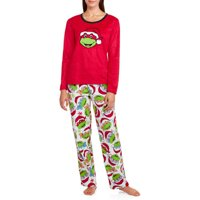 Women's & Women's Plus Giftable Character Long Sleeve and Pant PJ Set