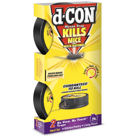 d-CON No View, No Touch Covered Mouse Trap, 4 Traps