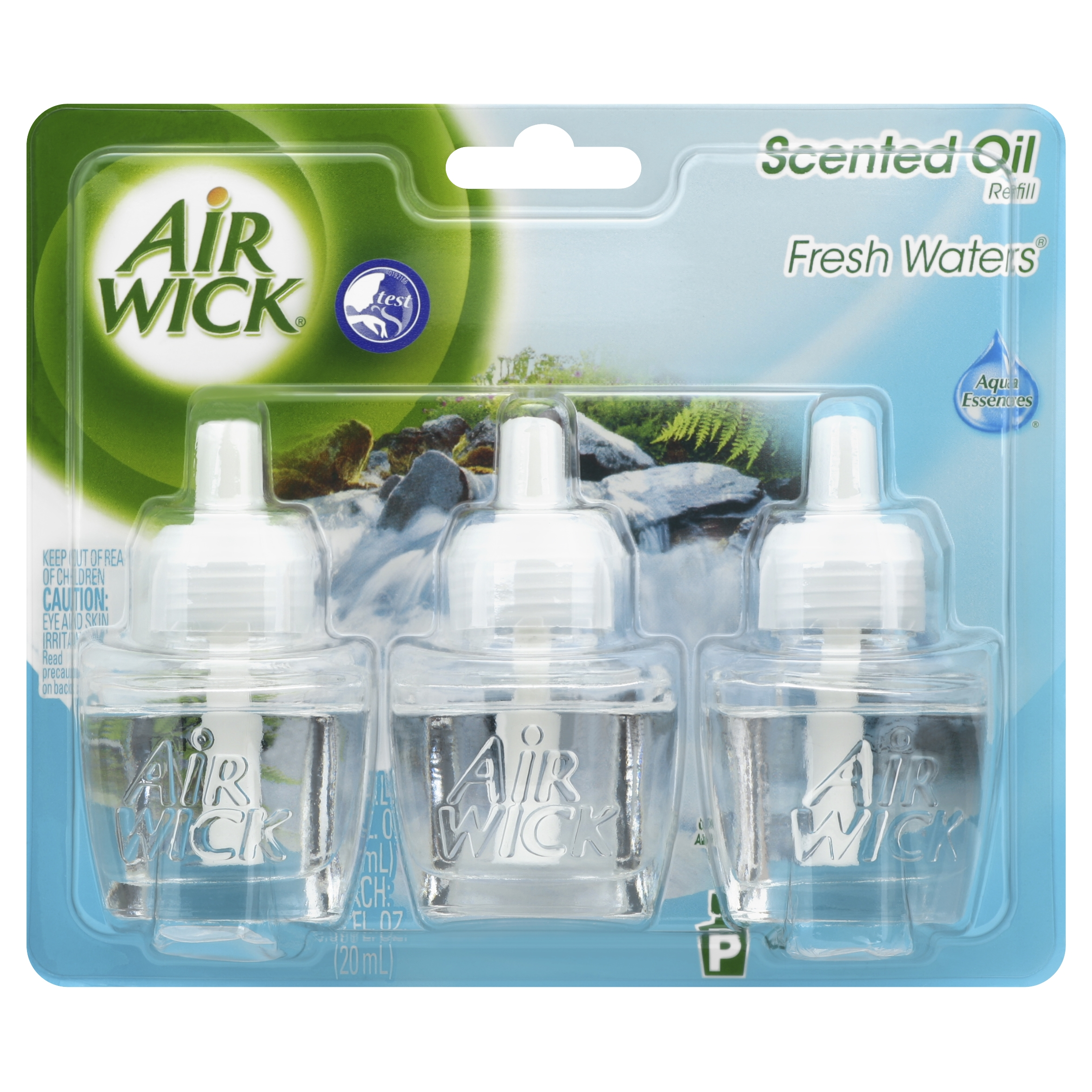 Air Wick Scented Oil Air Freshener, Fresh Waters Scent, Triple Refills, 0.67 Ounce