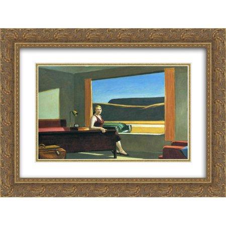 Edward Hopper 2x Matted 24x20 Gold Ornate Framed Art Print 'Western Motel'
