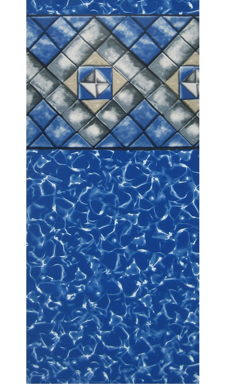 Smartline 18-Foot-by-33-Foot-by-48-Inch Oval 25 Gauge Manor Esther Williams Above-Ground Beaded Swimming Pool Liner 25 Gauge