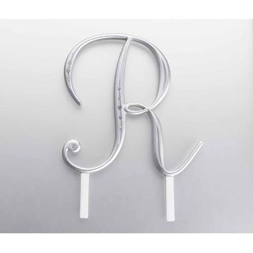 Silver Rhinestone Monogram, A