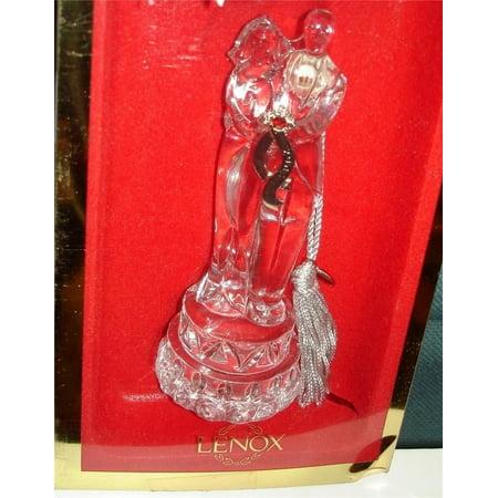 2003 BRIDE & GROOM LEAD CRYSTAL ORNAMENT, By Lenox