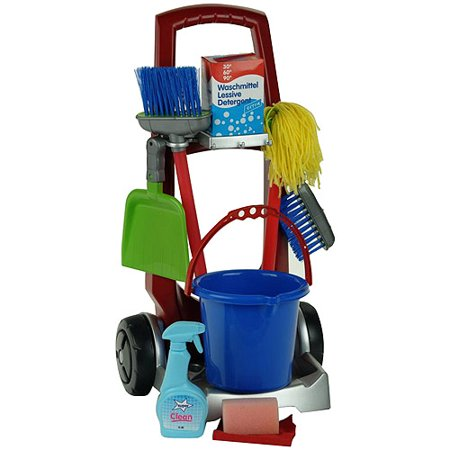 Theo Klein Cleaning Trolley Play Set (My Cleaning Trolley Set With Hand Vacuum Cleaner)