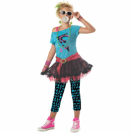 '80s Valley Girl Teen Halloween Costume - 80s Punk Rocker Costume