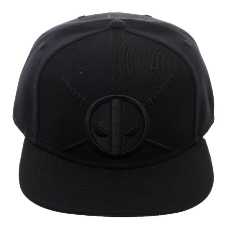 Deadpool Black on Black Logo Hat