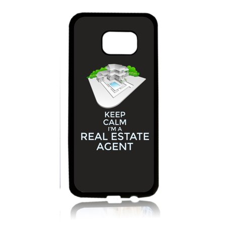 Keep Calm I'm a Real Estate Agent - Job Career Gift Appreciation Black Rubber Thin Case Cover for the Samsung Galaxy s7 - Samsung Galaxys7 Accessories - s7 Phone