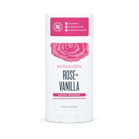 Schmidt's Rose + Vanilla Natural Deodorant Stick, 2.65 Oz