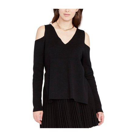 Rachel Roy Womens Cold-Shoulder Pullover Sweater black M - image 1 de 1
