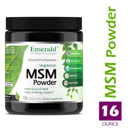 Emerald Laboratories (Ultra Botanicals) - MSM Powder 4,000 mg - Joint Support for Aches & Pains, Anti-Inflammatory, Stress Relief, Supports Digestive System, & Allergy Relief - 16