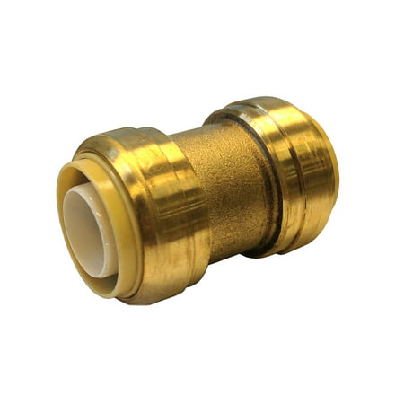 - Libra Supply Lead Free 1/2 inch Push-Fit Coupling, Push to Connect, (Pack of 6pcs, Click in for more size options), 1/2'', 1/2-inch, Brass Pipe Fitting Plumbing Supply