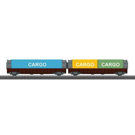 Marklin 44109 HO Container Car for My World Battery Train Sets (2) - Marklin Ho Trains