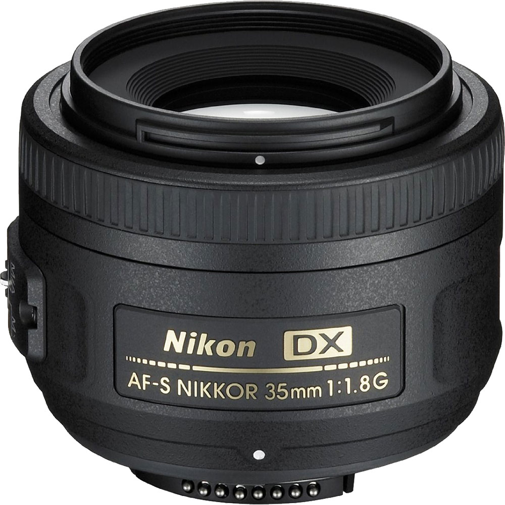 Nikon 35mm f/1.8G DX AF-S Nikkor Lens - Factory Refurbished includes Full 1 Year Warranty