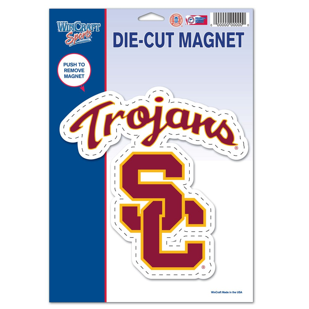 USC Trojans Official NCAA 6 inch x 9 inch  Car Magnet by Wincraft