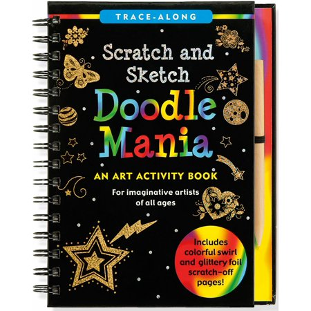 Trace-Along Scratch and Sketch: Doodle Mania: An Art Activity Book - Scratch And Sketch Books
