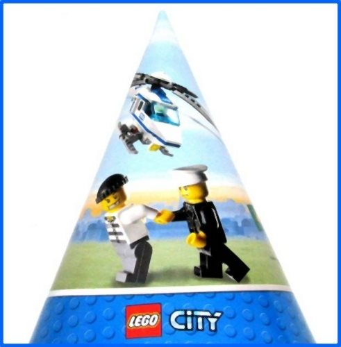 LEGO City Paper Cone Hats (8ct)