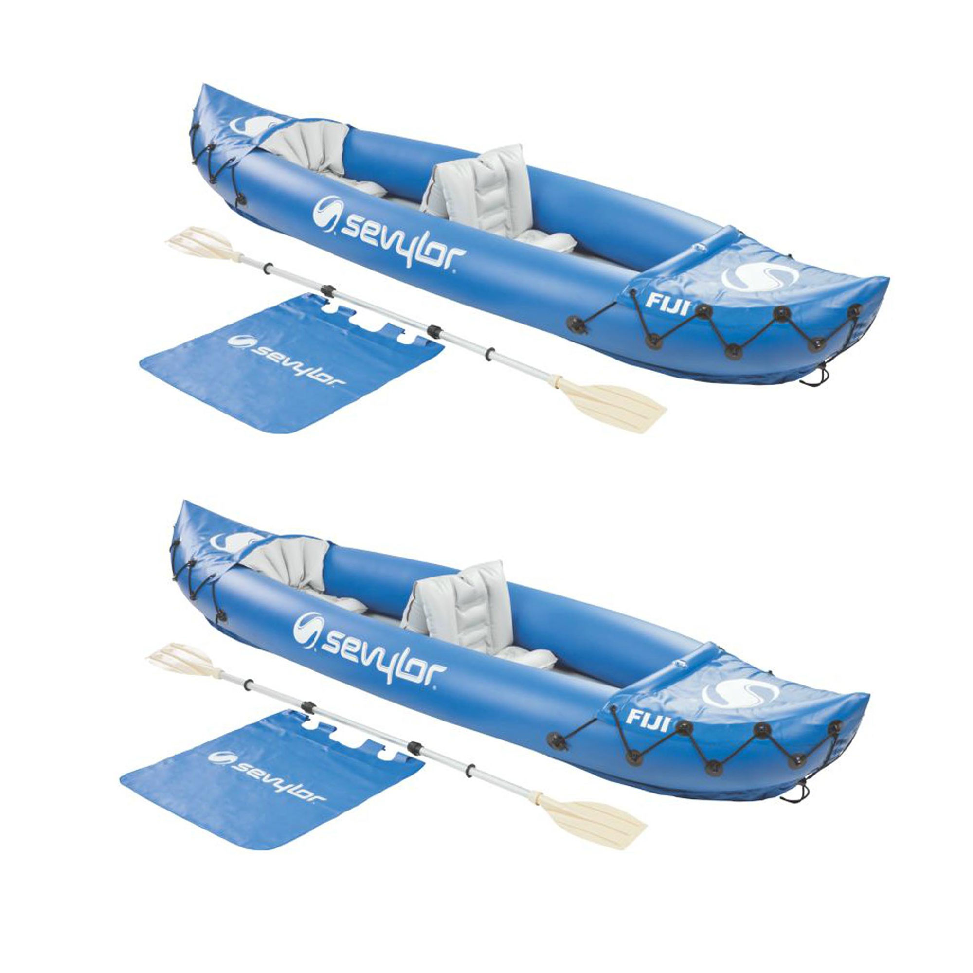 SEVYLOR Fiji 2-Person Inflatable 22 Gauge PVC Travel Boat Raft Kayak (2 Pack)