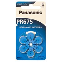 60 Panasonic Hearing Aid Batteries Size: 675