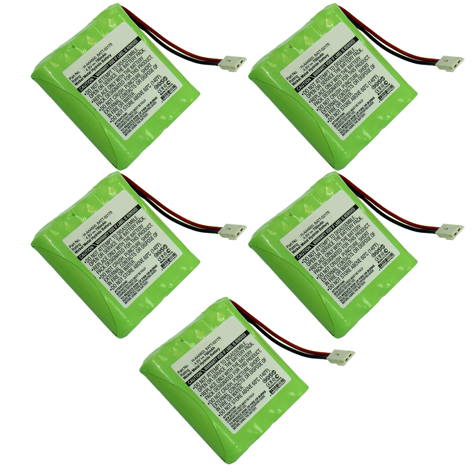5x 4.8V 700mAh Baby Monitor Battery for Summer Infant H-AAA700 02320 02174