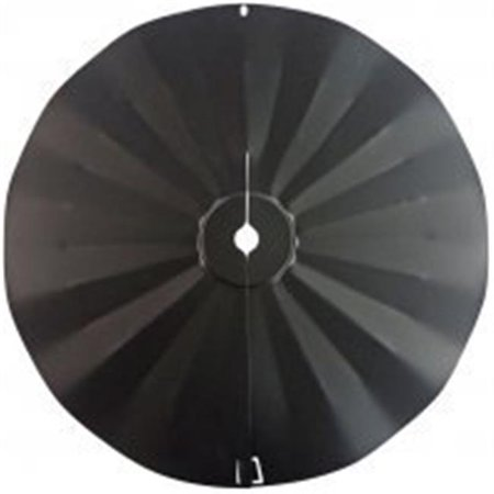 Black Mounting Pole - Pole Mount Disk Squirrel Baffle - Black