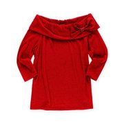 AGB Womens Terry Bow Pullover Sweater