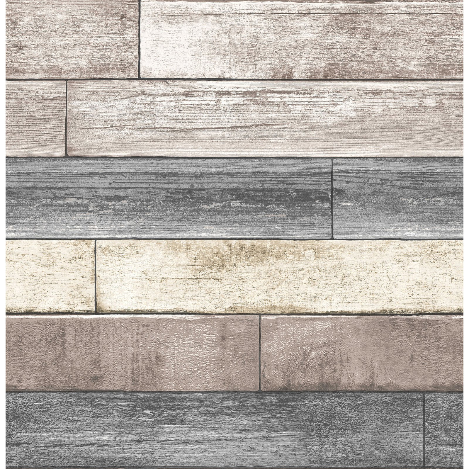 NuWallpaper Reclaimed Wood Plank Peel and Stick Wallpaper - Walmart.com