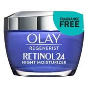 Olay Regenerist Retinol 24 Night Moisturizer, Fragrance Free, 1.7 oz
