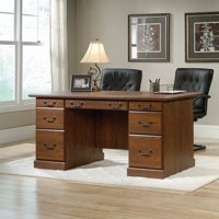 Sauder Orchard Hills Executive Desk in Milled Cherry