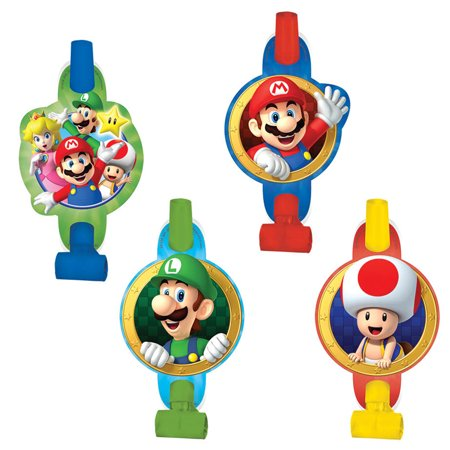 Super Mario Blowouts (8 Pack) - Party Supplies