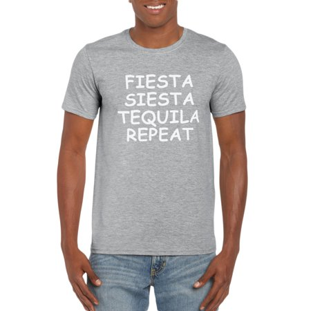 Fiesta Siesta Tequila Repeat T-Shirt Gift Idea for Men](Ideas Originales Fiesta Halloween)