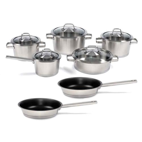12-Pc Stainless Steel Cookware Set