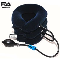 Cervical Neck Traction Device -for Neck Pain Relief Cervical Neck Brace Inflatable and Adjustable Helps provide Fast Neck Head & Shoulder Pain Relief at Home or One The Go FDA Approved