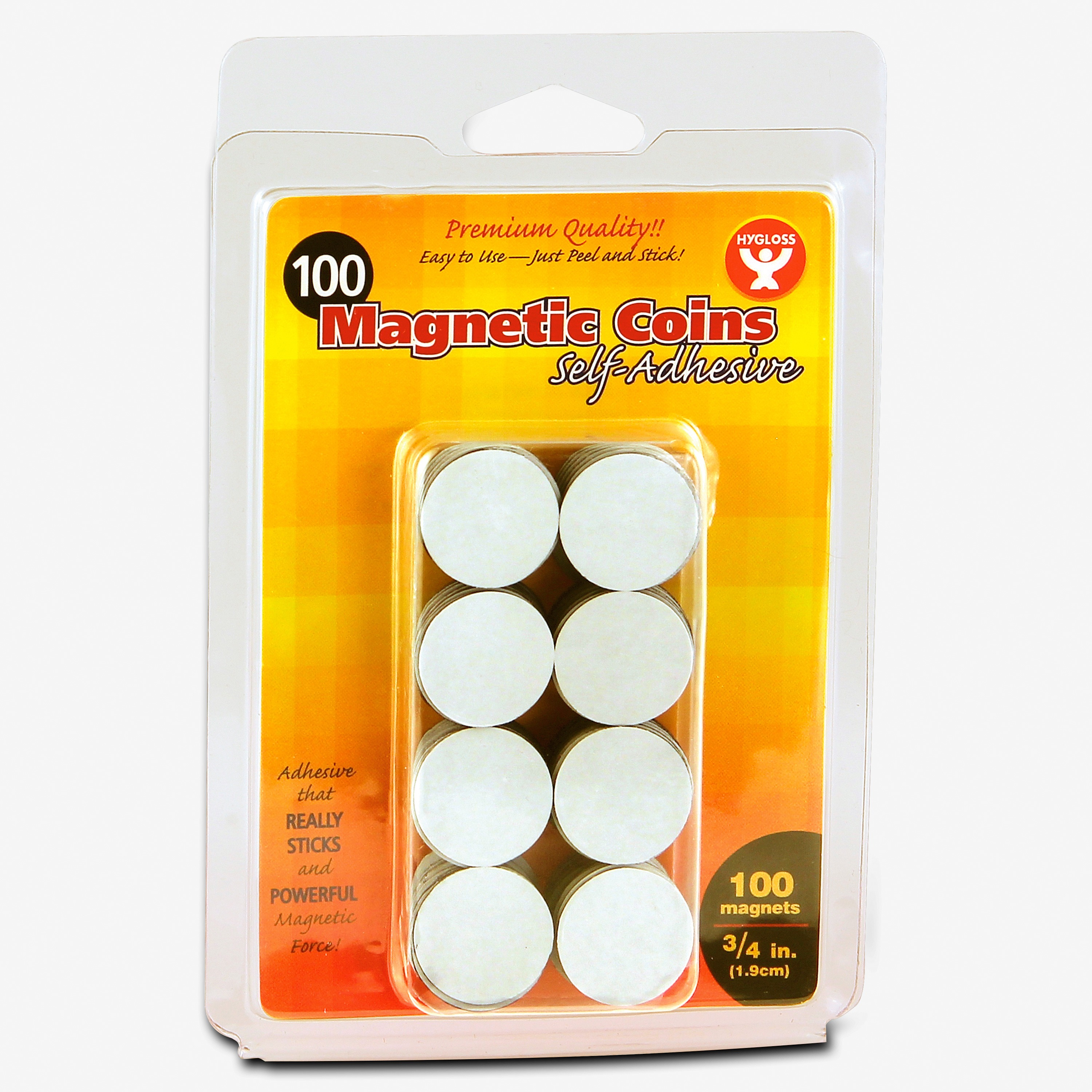 Hygloss Self-Adhesive Magnetic Coins, 1 Pack (Quantity)