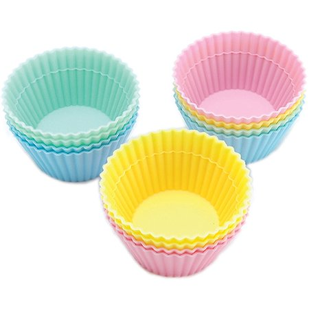 Wilton Silicone Standard Baking Cup Liner  Round 12 Ct  415 9432