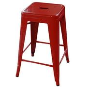 AmeriHome Loft Red 24 Inch Metal Bar Stool by Buffalo Corp