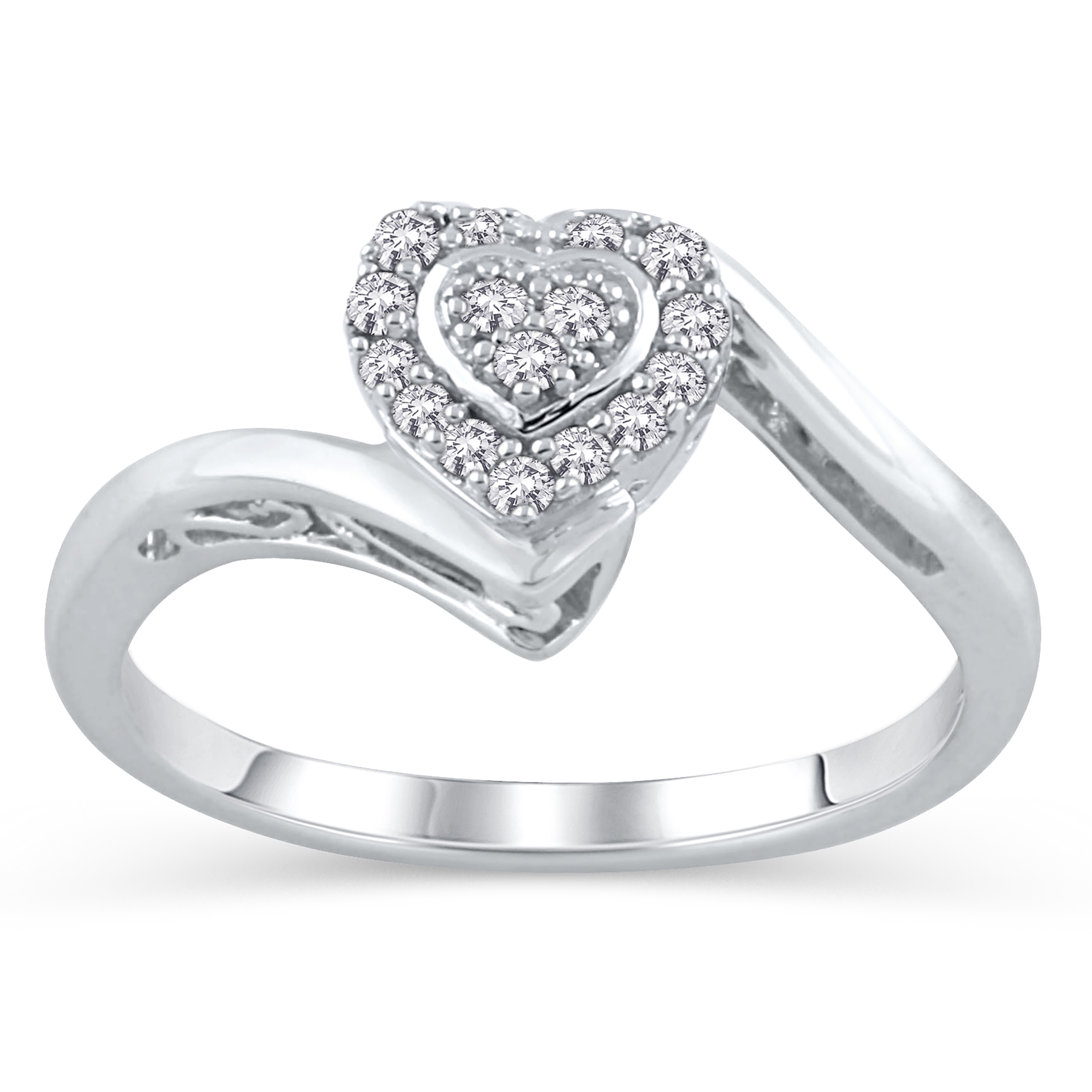 accent sterling silver promise ring