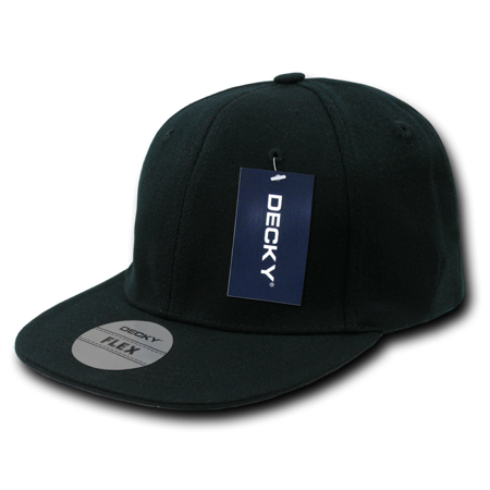 DECKY Acrylic Flat Bill Fitall Flex Cap, Style 872