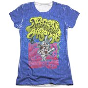 Jefferson Airplane White Rabbit (Front Back Print) Juniors Sublimation Shirt