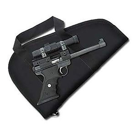 Ace Case Scoped Handgun Padded Pistol Case Gun Rug w/ Handles - Black Made in